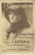 """Cinéma Astoria Liège -- Publicité Pour Le Film """" L'Orpheline """".    ( 2 Scans) - Werbepostkarten"""