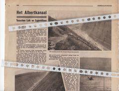 HET ALBERTKANAAL...1933 TUSSCHEN LUIK EN EIGENBILSEN WERKEN IN VROENHOVEN DE DOORGRAVING TERNAAIEN - Vieux Papiers