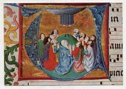 CHRISTIANITY - AK 306330 Einsiedeln - Stiftsbibliothek - Buchmalerei Aus Graduale - Himmelfahrt - Tableaux, Vitraux Et Statues