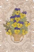 ¤¤  -  Carte Religieuse  à Dentelle Et Découpi    -  Voir Description - Fleurs