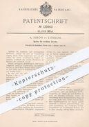 Original Patent - A. Simon , London , 1902 , Spritze | Arzt , Ärzte , Medizin , Krankenhaus , Chirurg , Spritzen !!! - Historische Dokumente