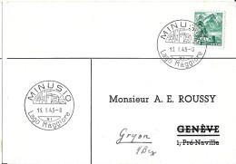 63 - 39 - Carte Avec Oblit Illustrée De Minusio 1945 - Marcophilie