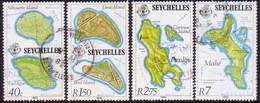 SEYCHELLES 1982 SG #528-31 Compl.set Used Modern Maps - Seychelles (1976-...)