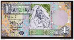 LIBIA (LIBYA) : Banconota 1 Dinaro - 2002 - P64a – UNC - Libya