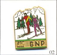 Pin's Banque / Assurance - Banque BNP / ASC Paris - Section Ski De Fond. Est. Ballard. Zamac. T551-02 - Banques