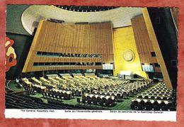 Vereinte Nationen, UNO, General Assembly Hall, EF Air Mail, MS Olive Oil Year New York, Nach Ahrensburg 1980 (43621) - Ansichtskarten