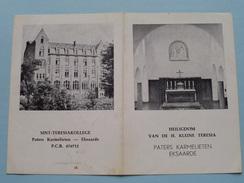 Heiligdom Van De H. Kleine TERESIA - Paters Karmelieten EKSAARDE ( Gebedsprentje ) ( Zie Foto's ) ! - Godsdienst & Esoterisme