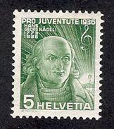 SUISSE 1936 Yv 298**  Mi 306** - Svizzera