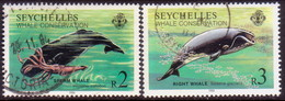 SEYCHELLES 1984 SG #602-03 Part Set Used 2 Stamps Of 4 Whale Conservation - Seychelles (1976-...)