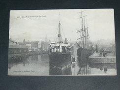 CAEN   1910  LE PORT AVEC TROIS MATS   CIRC  EDIT - Caen
