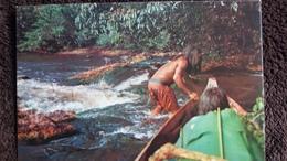 CPSM GUYANE FRANCAISE HAUT ITANY PASAGE DE RAPIDE INDIENS    ED DELABERGERIE 133   DETACHEE ALBUM - Guyane