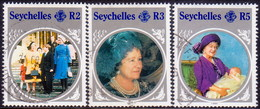 SEYCHELLES 1985 SG #615-17 Part Set Used Only 50c Stamp Missing Queen Mother - Seychelles (1976-...)