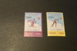 K12715- Set MNh Uganda - 2002- Winter Olympics Salt Lake City - Winter 2002: Salt Lake City