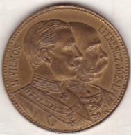 Hongrie Médaille Visite Wilhelm II Et Franz Josef I à Budapest 20 Septembre 1897. - Non Classificati