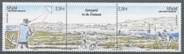 Saint Pierre And Miquelon, Savoyard Lake, 2014, MNH VF  A Triptych - Unused Stamps