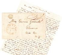USA Pontiac, Michigan 1836, Brief Nach Clarence NY - …-1845 Vorphilatelie