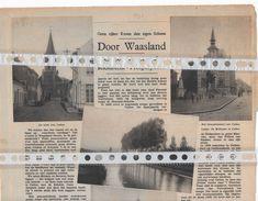 DOOR WAASLAND...1937... CALLO, VERREBROEK, KIELDRECHT, PROSPERPOLDER - Documentos Antiguos