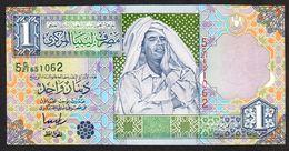 LIBIA (LIBYA) : Banconota 1 Dinaro - 2002 - P64b – UNC - Libia