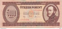 BILLETE DE HUNGRIA DE 5000 FORINT DEL AÑO 1992  (BANKNOTE) RARO - Hungría