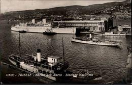 ! Trieste Bacino San Marco, Stazione Marittima, Schiffe, Ships, 1933 - Trieste