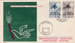 EUROPA BELGIQUE   N° 1025/1026 ANNEE  1957 - Europa-CEPT