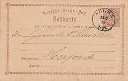 DR Ganzsache K2 Ahlen 13.6.74 - Briefe U. Dokumente