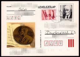 1993 - HUNGARY - Medicine NOBEL PRIZE - C Vitamin - Szent-Györgyi Albert - POSTCARD STATIONERY - Used - Nobel Prize Laureates