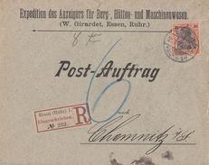 DR R-Brief Postauftrag EF Minr.59 Essen (Ruhr) 21.2.00 - Briefe U. Dokumente