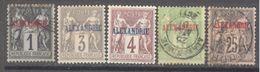 Alexandrie: 5 Valeurs De La Serie Yvert N° 1/11*. Cote  17.50 € - Alexandrie (1899-1931)