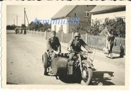 Wehrmacht - Krafträder - Schweres Krad. Mit Seitenwagen - Heer - Guerre, Militaire