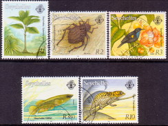 SEYCHELLES 1993 SG #818//25 Part Set Used 5 Stamps Of 14 Flora And Fauna - Seychelles (1976-...)