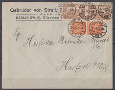 DR Brief Mif Minr.2x 114a, 2x 189 Berlin 10.11.22 Geprüft Perfins Gebrüder Von Streit - Deutschland