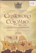2 Euros Commémoratif San Marin 2006 Christophe Colomb (2 € San Marino Saint Marin) - San Marino