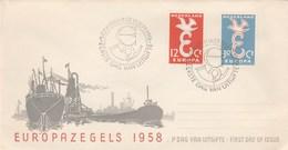 EUROPA  PAYS  BAS    N° 691/692 ANNEE  1958 - 1958