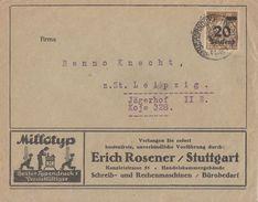 DR Werbebrief Erich Rosener Stuttgart EF Minr.281 Schorndorf 28.8.23 Geprüft - Deutschland