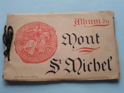 Album Du MONT St. MICHEL Edition Spéciale De L'ABBAYE () VIEUX Carnet 18 Vues ( +/- 19 X 12,5 Cm / Zvoir Photo ) ! - Dépliants Touristiques