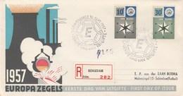 EUROPA  PAYS  BAS    N° 678/679 ANNEE  1957 - Europa-CEPT