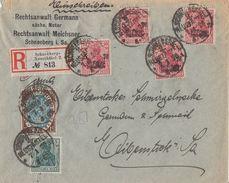 DR R-Brief Mif Minr.85II,108, 4x 105c Schneeberg-Neustädtel 7.1.20 Geprüft - Deutschland