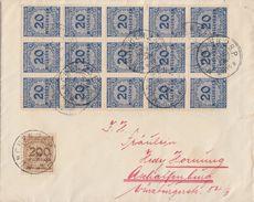 DR Brief Mif Minr.43x 319A,323A München 12.11.13 Gel. Nach Aschaffenburg - Deutschland