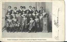 Celebre Compagnia Lillipuziana Diretta Dal Maestro Ernesto Guerra - Viagg 1903 - Nomi