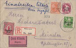 DR R-Eilbote-Brief Mif Minr.119,127,129,141 Mittenwald 29.3.21 - Deutschland