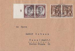 DR Karte Mif Minr.2x 540 SR, 2x 598 Düsseldorf 7.8.34 - Briefe U. Dokumente