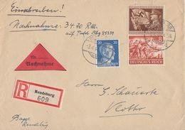 DR R-NN-Brief Mif Minr.791,865,835 Rendsburg 3.4.44 - Briefe U. Dokumente