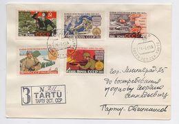 MAIL Post Cover Used USSR RUSSIA Set Stamp 2nd WW Kursk Battle Stalingrad Kiev Ukraine Military - 1923-1991 USSR