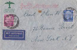 DR Luftpostbrief Mif Minr.522,524 Graz 15.11.41 Gel. In USA Zensur - Briefe U. Dokumente