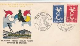 EUROPA FRANCE N° 1173 /1174 ANNEE 1958 - 1958