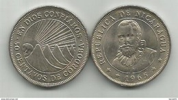 Nicaragua 50 Centavos 1965. KM#19.2 - Nicaragua