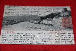 Bassano Del Grappa Vicenza Panorama Dal Ponte 1904 Ed. Alterocca Molto Bella - Vicenza