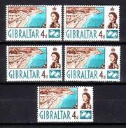 144d * GIBRALTAR * 5 X DAUERSERIENWERT * POSTFRISCH **!! - Gibraltar