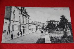 Thiene Vicenza Via Bosco Ed. Zaltron Animata Veduta Non Comune++++++++ - Vicenza